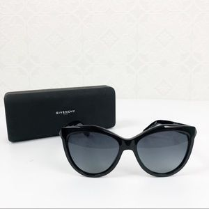 Givenchy Cateye Shiny Black GV 7009/S Sunglasses